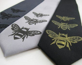 Bumble Bee Skinny Tie