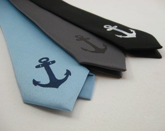 Anchor Skinny Tie