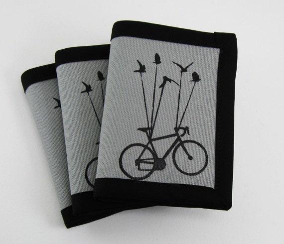 Flying Bike Wallet - Grey and Black