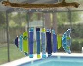 Fused Glass Fish Windchime