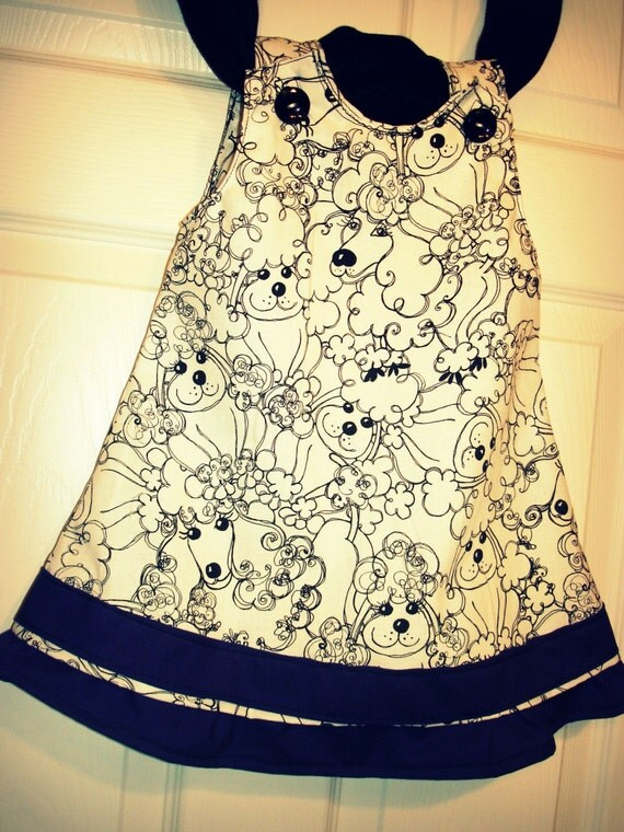French Poodle Sweet Pea Dress Size 12 months