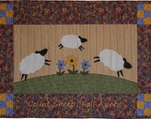 Items Similar To Baby Quilt Pattern Sheep Wall Art