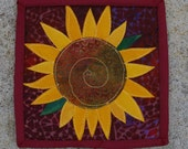 Miniature Sunflower Quilt - 5 inches square