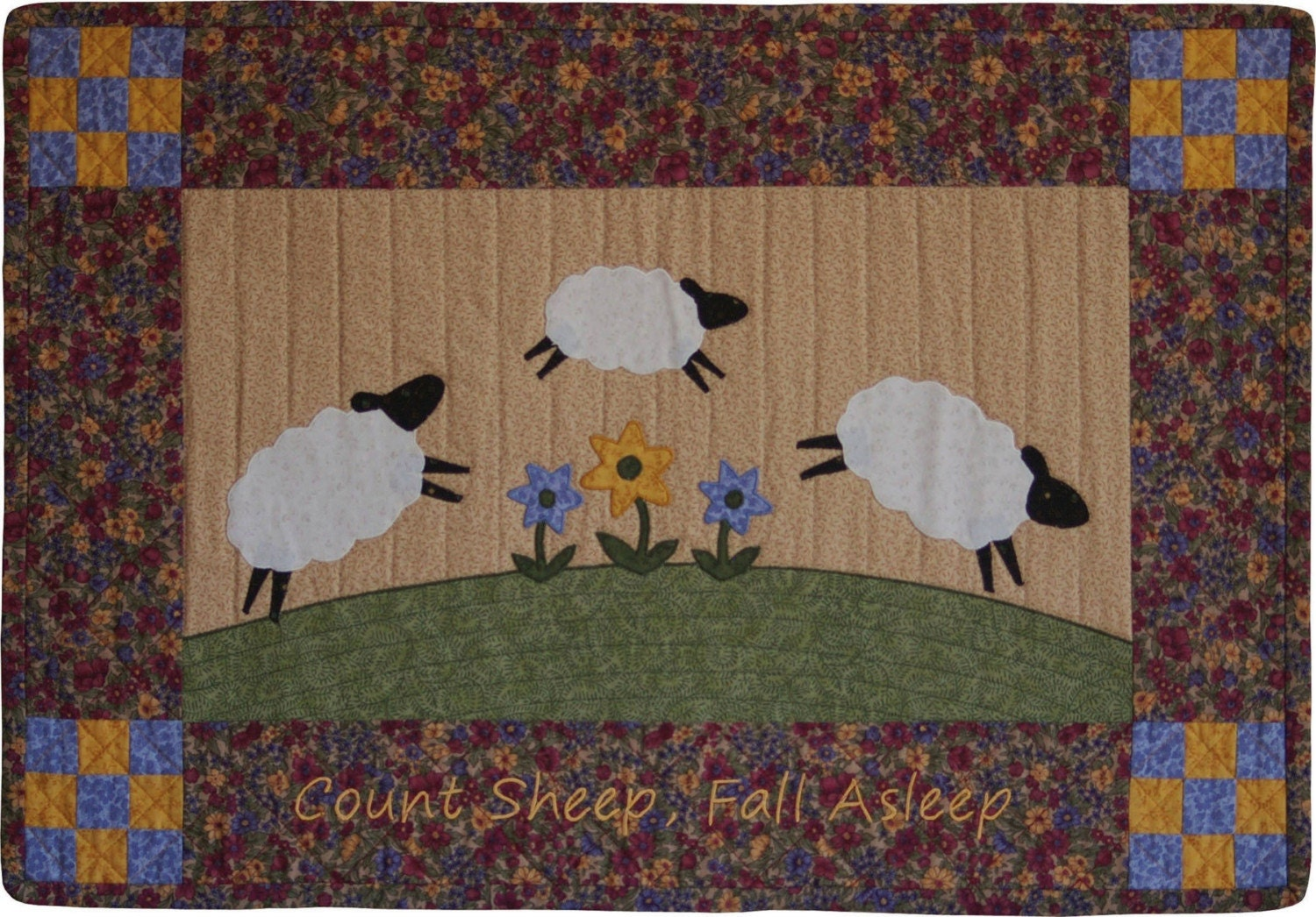 Count Sheep Quilt Wall Hanging Pattern By Sunflowerquilts