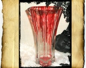 SALE Vampire Blood Vase - Beautiful Bloody Elegance - Large Glass Vase