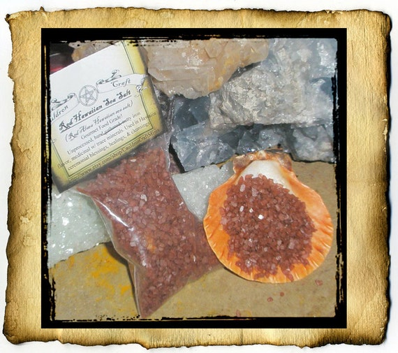 Red Hawaiian Sea Salt 2oz - Alaea Hawaiian Salt - organic hand gathered course crystals