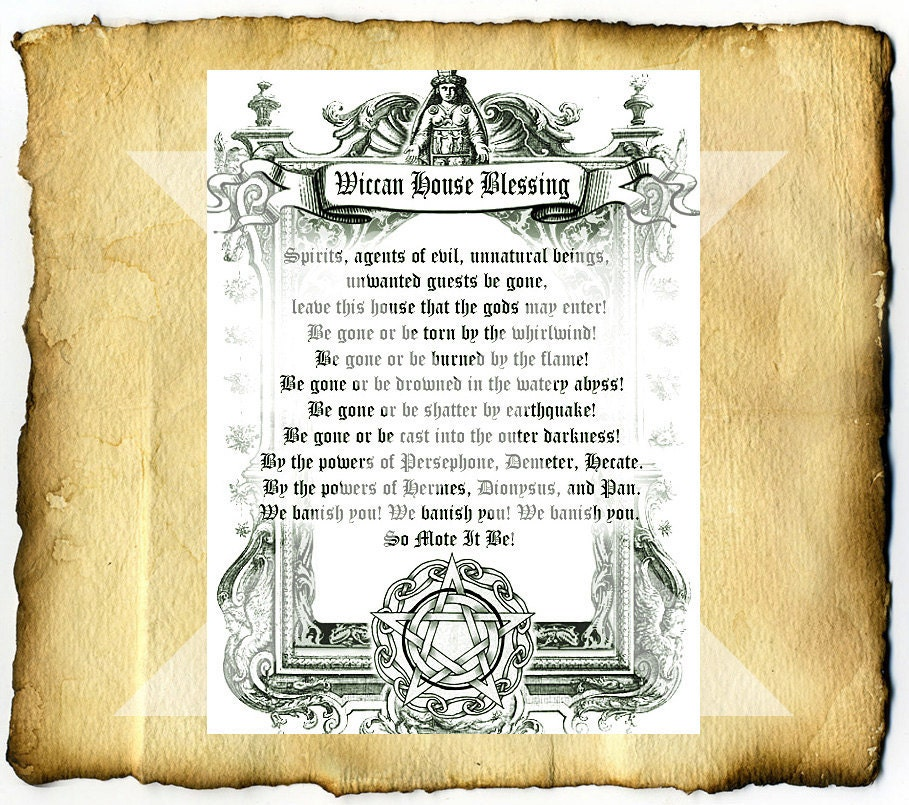 Wiccan House Blessing Digital Download Graphic Bos Page