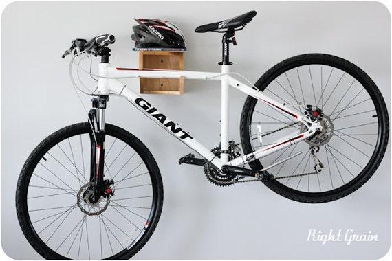 The Balancer Bike Shelf in Natural Maple - Bicycle Rack Storage Mount
