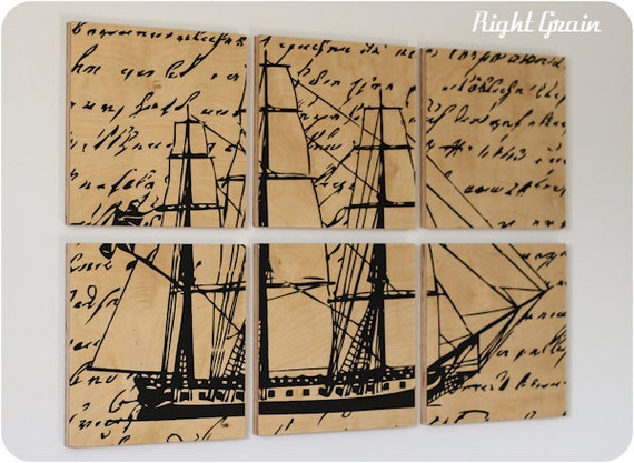 FINAL SALE - The Vintage Ship Original Wall Art Painting - Only 1 Left