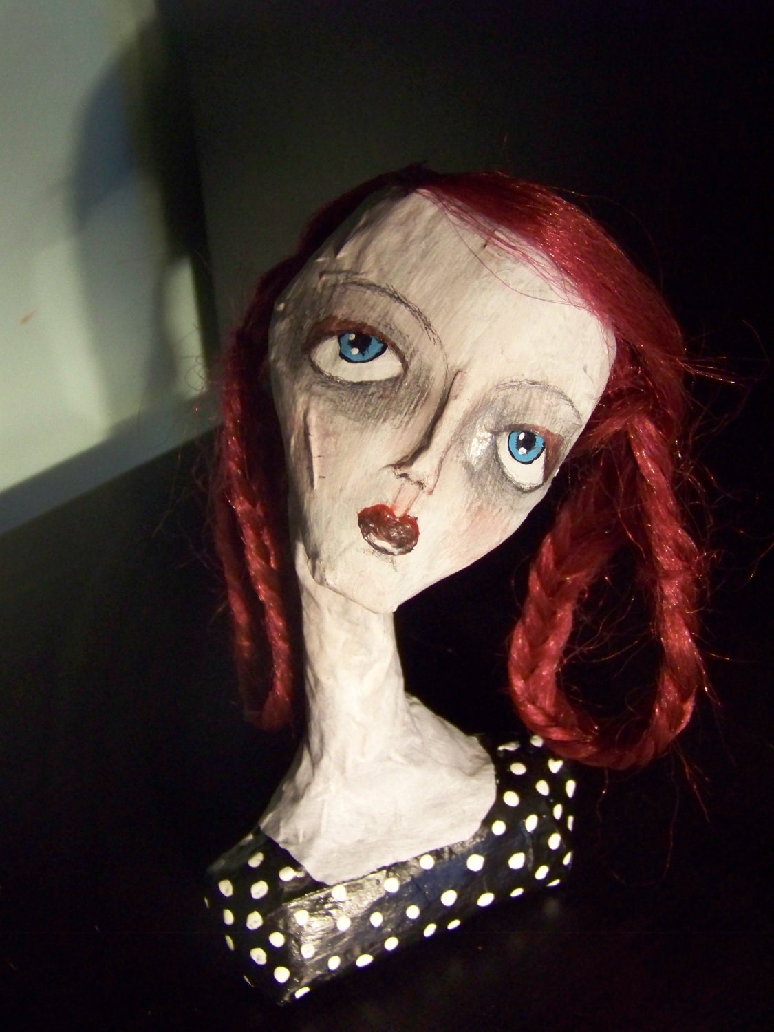 Paper Mache Art Doll Bust By Thenookshop On Etsy