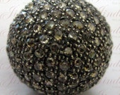 15mm Victorian Vintage luk Rose Cut diamonds ball Bead