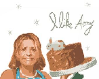 Amy Sedaris Pattern for Counted Cross Stitch PDF