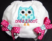 Birthday Owl Bloomers, Owl, One's a Hoot, Pink and Blue, Owl Birthday, Photo Prop