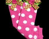 Legwarmers with Bows, Pink and Green, Tights