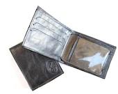 Men's Leather Wallet, Small Sized Men's Leather Wallet, Genuine Leather Wallet For Men, Gift For Him - in JOE'S METALLIC BLUE (No. 784)