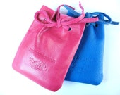 Baby Girl PSALMS BOOK in Leather Bag - in Pink Leather