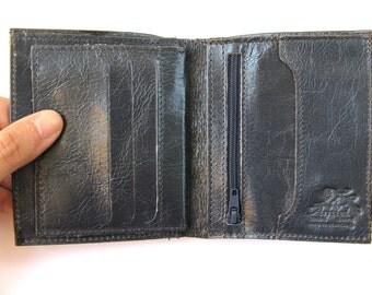 Men's Leather Wallet - in TRUE BLUE (No. 874)