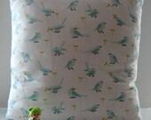 Organic Baby Bedding Bird and Polka Dot Pillow