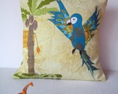 Jungle Parrot or Lizard Scatter Cushion