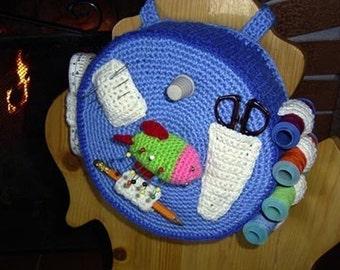 Needlework Organizer - Caddy - Tidy crochet pattern pdf