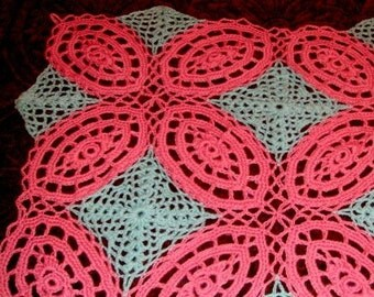 Double Wedding Ring Afghan crochet pattern pdf