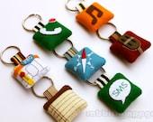 Icon Felt Keychains ( All 7 Pieces )