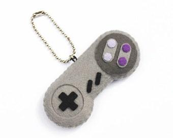 SNES Felt Controller Plush Keychain