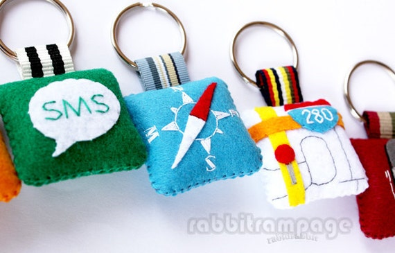 Icon Felt Keychains ( 2 pieces of your choice )