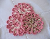 Chrysanthemum Hotpads--Pink Trio