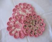 Chrysanthemum Hotpads--Pink Trio