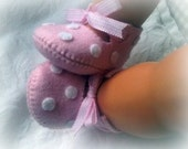 Light pink with white polka dots