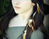 Feather Hair Extension - Clip-In Feathers, Hair Feathers, Women's Hair Accessories - Tribal Raven