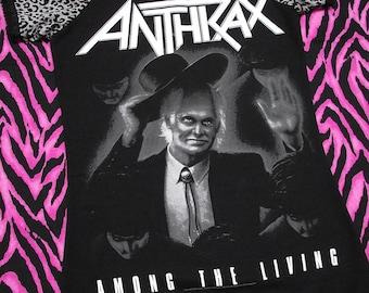 Anthrax Off Shoulder T-Shirt