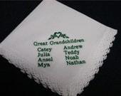 1 Grandmothers Beautiful machine embroidered  handkerchief
