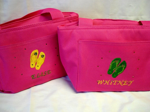 2 Personalized insulated lunch totes and FREE SHIPPING
