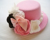 Couture Shabby Chic Mini Top Hat