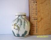 Beautiful Handpainted Porcelain Miniature Vase from Japan