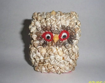 Shell Owl // Owl made from Shells /  Shell Animal