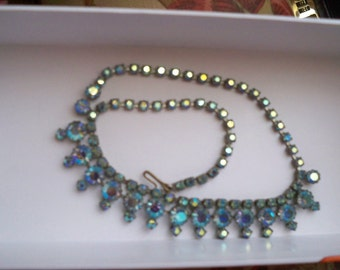 Gorgeous Iridescent Jeweled Necklace or choker