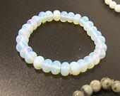 Opalite Milk Glass bead charm bracelet base