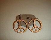 Enameled Peace Sign Earrings
