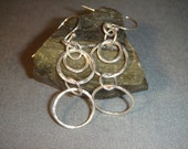For Laura Hammered Silver Earrings