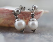 AA Freshwater Pearl Earrings -Choose Post, Lever Back or French Hook- Snowdrop
