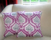 16 X 16 inch Purple Artichoke Print Pillow Cover