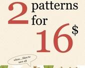 Bundle Pack - Choose 2 PDF Sewing Patterns