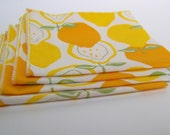 Retro Lemon Lunchbox Napkins (Set of 4)