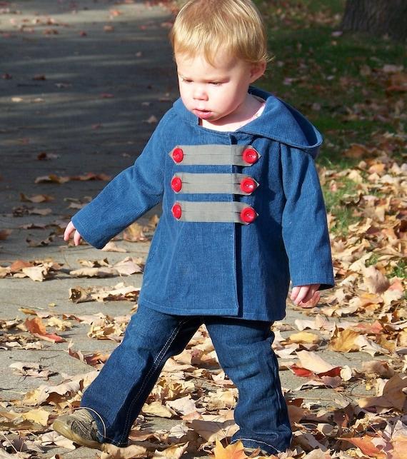 The Sidewalk Jacket, PDF Sewing Pattern and Tutorial (sizes 3m, 6m, 12m, 18m, 2t, 3t)