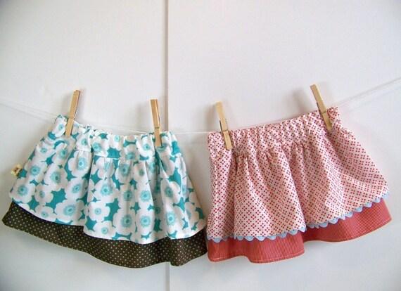 Double Dutch Ruffle Twirl Skirt - PDF Sewing Pattern (Sizes 0-6m, 6-12m, 12-18m, 2-3t, 4-5, 6-7)
