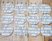 Stickers or Envelope Seals School Notebook Cursive Alphabet Set of 12