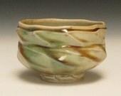 faceted colorful celedon porcelain snack bowl